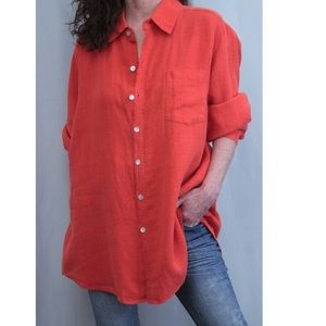 Chico's Design 100% Linen Long Sleeve Tunic/Top